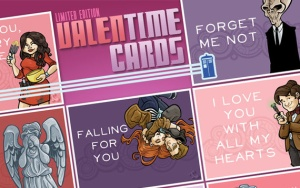 Doctor Who Valentines by Tom Kurzanski (Click image for his Etsy shop.)